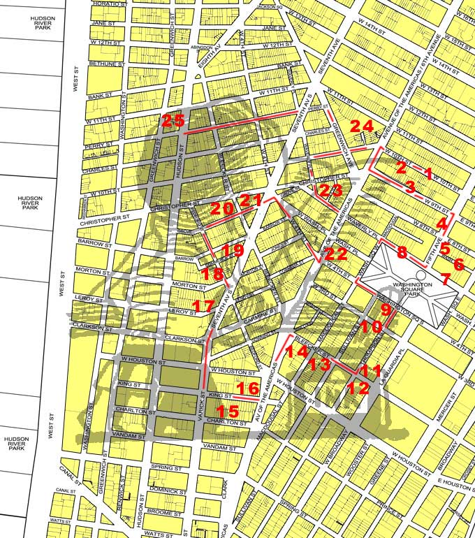 Village & SoHo Map - Literary & Writers